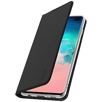 Akashi Galaxy S10 Plus Case Card Holder Silicone Stand Black