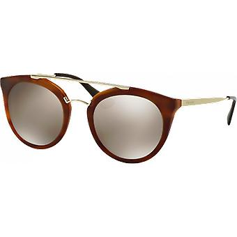 Prada SPR23S Brown striped mirrored brown gold