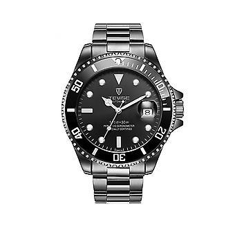 मेंस श्रद्धांजलि स्वचालित घड़ी ब्लैक स्मार्ट घड़ियों की तारीख डिजाइनर उपहार