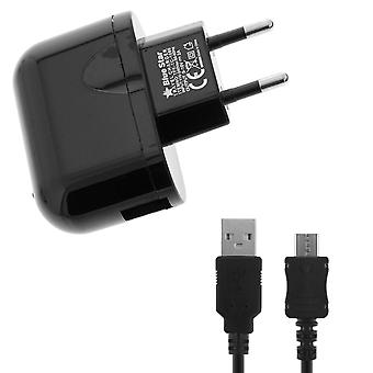 Bluestar USB 2A Charger Smartphone Tablets + Micro-USB Cable Black