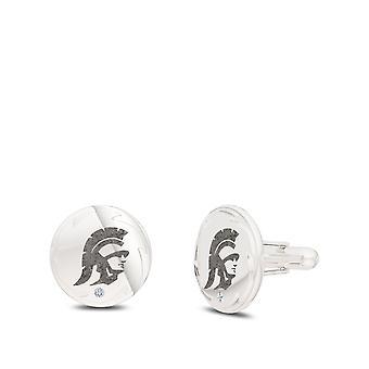 Trojan Cuff Linki w Sterling Silver