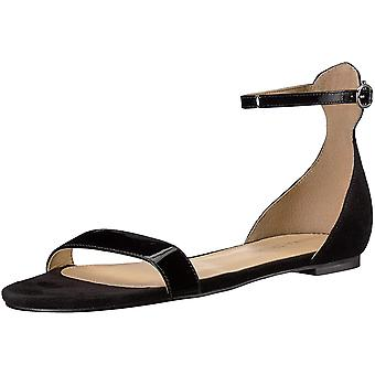 Ivanka Trump Womens Camryn Leather Open Toe Casual Ankle Strap Sandals