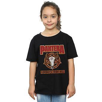 Pantera tyttöjen nahka patch T-paita