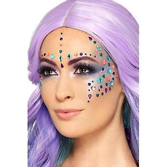 جوهرة الوجه الأحجار الكريمة ورقة ألوان متنوعة من 100، Facepaint / ماكياج