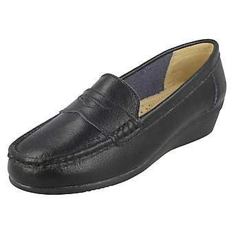 Dames down to Earth leren loafers F90064