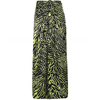 Ganni Silk Stretch Tiger Print Skirt