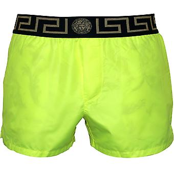 Versace Iconic Luxe Swim Shorts, Fluo Yellow