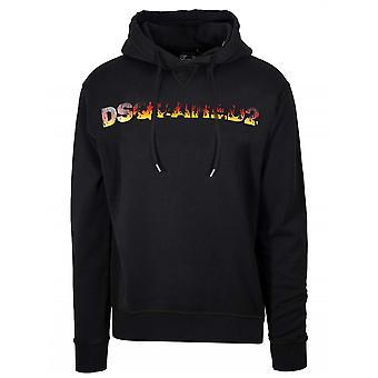 Sweat-shirt à capuchon Dsquared2 Black Logo