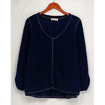 Petite Sleepshirt Micro Fleece Novelty Basic Blue A294388