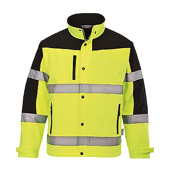 Portwest two tone hi vis softshell jacket (3l) s429