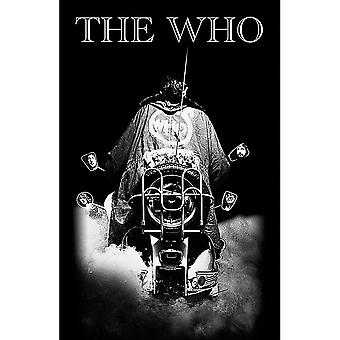Die Who Quadrophenia großen Stoff Poster / Flagge 1100mm x 700mm (rz)