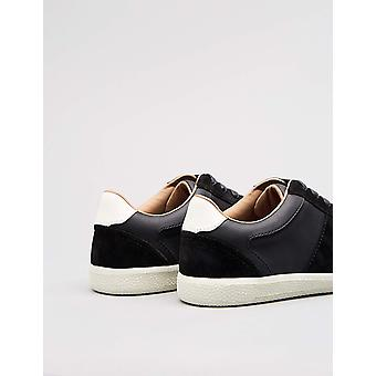 Amazon Brand - find. Men's Retro Trainer Sneaker Black), US 12
