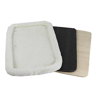 Rhodium serie faux fleece pad met multiplex base