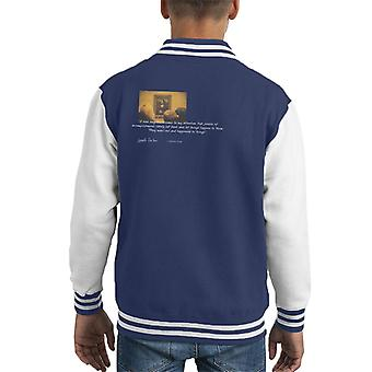 A.P.O.H Leonardo Da Vinci Mona Lisa People Of Accomplishment Quote Kid's Varsity Jacket