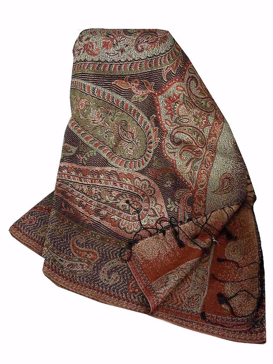Mens Jamawar Premium Silk Scarf Pattern 3459 by Pashmina & Silk