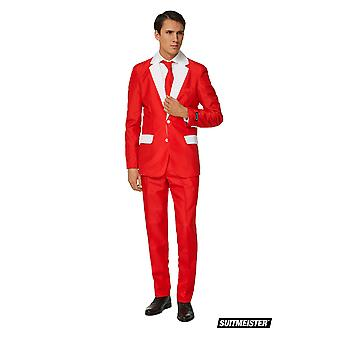 Mister Santa Red White Christmas Suit Suit SuitMaster Slimline Economy 3-piece