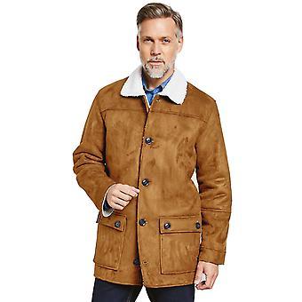 Pegasus Mens Mock Sheepskin Carcoat