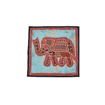 Couverture indienne de coussin d'éléphant