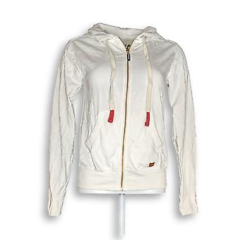 Peace Love World Women's Novelty Zip Front Affirmation White A290288