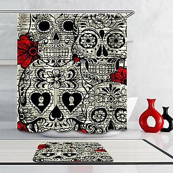 Skulls And Flowers Shower Curtain