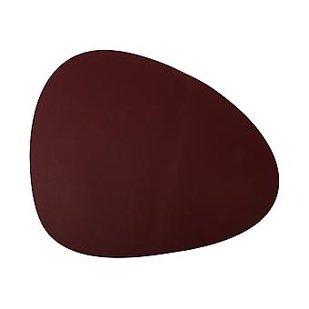 Coaster leather look oxblood red 40x33 cm 4-pack
