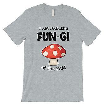 Fungi Dad Mushroom Mens Gris divertido valiente Padre's Día Camisa