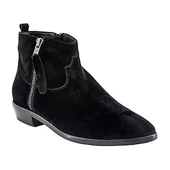 STEVEN by Steve Madden Women's Aero Ankle Boot, Black Velvet, 9 M