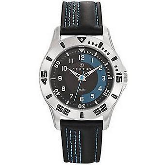 Certus 647573 Reloj - Cuero de cuarzo mezclado