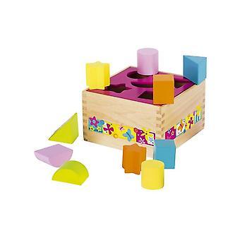 Goki Wooden Sort box - Varie Forme Farfalla