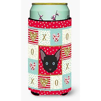 Russian White Black Cat Tall Boy Beverage Insulator Hugger