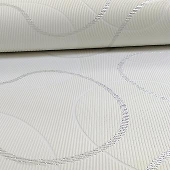 A.S. Creation AS Creation Geometric Pattern Circles Glitter Trail Motif Textured Wallpaper 953423