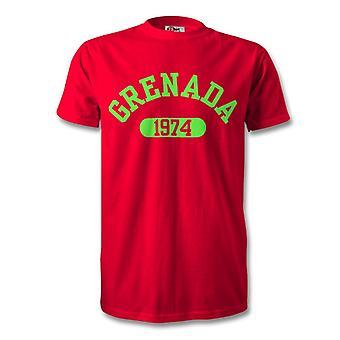 غرينادا الاستقلال عام 1974 تي شيرت