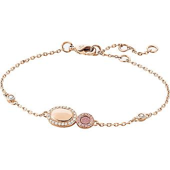 Zeades Sbc01019 bracelet - Bracelet Rose Gold Leather Crystal woman