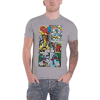 Marvel Comics T Shirt comic strip Panels new Official Mens Grey