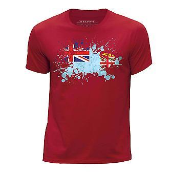 STUFF4 Boy's ronde hals T-T-shirt/Fiji vlag Splat/rood