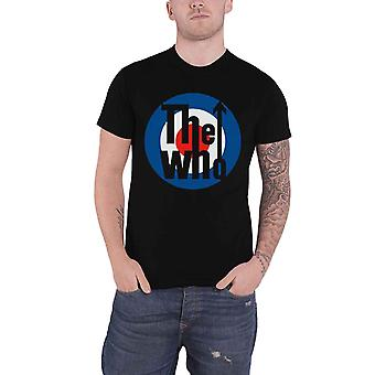 The Who T Shirt Classic MOD Target Band Logo new Official Mens Black