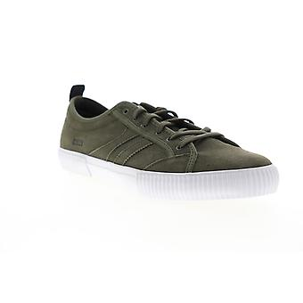 Globe Filmore  Mens Green Suede Low Top Lace Up Skate Sneakers Shoes