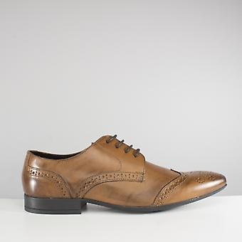 Catesby Shoemakers Sawley Mens Brogue Shoes Tan