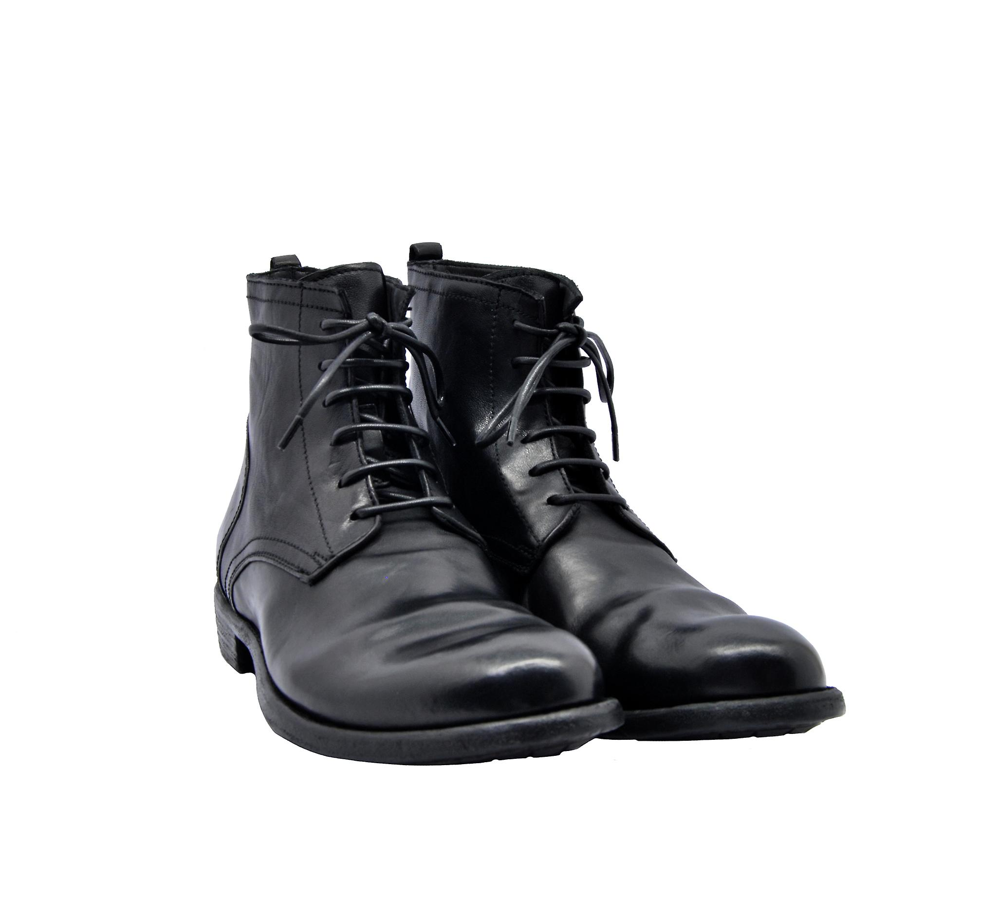 Officine Creative Mars016 Women's Black Leather Ankle Boots