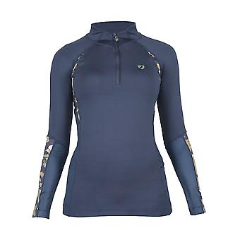 Shires Aubrion Newbury Womens Long Sleeve Base Layer - Navy Blue