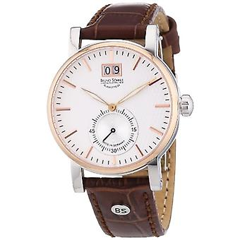 Bruno S_hnle 17-63144-241-men's wristwatch, leather, color: Brown