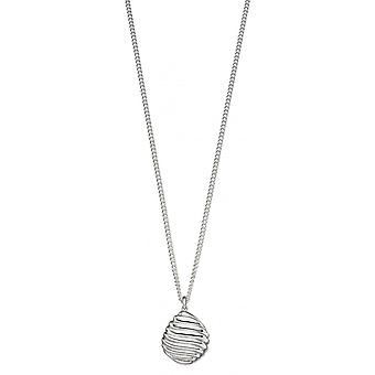 Joshua James Motive Silver Swirl Pebble Pendant
