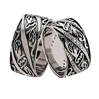 White gold wedding rings fantasy model