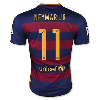 2015-16 Barcelone Accueil maillot (Neymar JR 11) - Kids