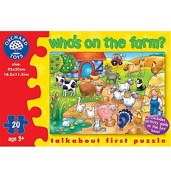 Who's On The Farm? Puzzle