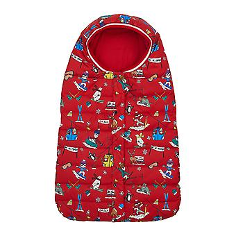 Dolce & Gabbana Newborn Bag With All-Over Designers Skiers Print