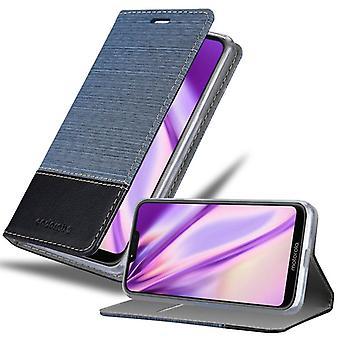 Cadorabo tapauksessa Motorola MOTO G7 POWER tapauksessa tapauksessa kattaa - matkapuhelin tapauksessa magneettilukko, seistä toiminto ja korttiosasto - Case Cover Suojakotelo tapauksessa Kirja Folding Style