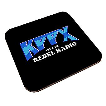 KPPX Rebel Radio Airheads Coaster
