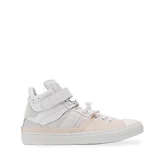 Maison Margiela Ezcr029002 Mænd's Hvid Læder Hi Top Sneakers
