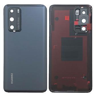 Cubierta de la batería Huawei tapa de la batería tapa de la batería negro / negro para P40 02353MBJ reparación nueva